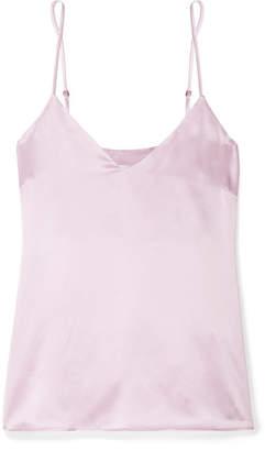 Anine Bing Gwyneth Silk-satin Camisole - Lilac