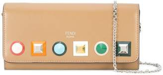 Fendi Continental wallet with chain