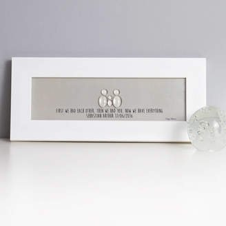 Daisy Maison Personalised New Baby Glass Family