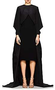 Zac Posen Women's Silk Taffeta Voluminous Opera Coat - Black