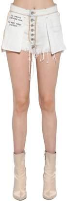 Unravel Inside Out Reversible Denim Shorts