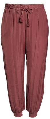 Vince Camuto Hammered Smocked Cuff Jogger Pants