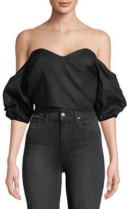A.N.A MLM Linen Back Tie Top