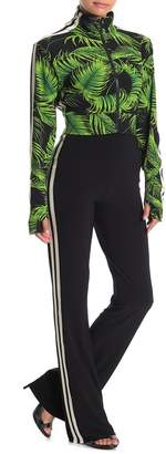 Norma Kamali Side Stripe Bootcut Stretch Knit Pants