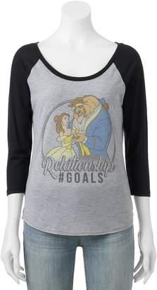 "Disney Disney's Beauty and the Beast Juniors' ""Relationship Goals"" Graphic Tee"