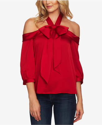 CeCe Halter-Neck Bow Blouse