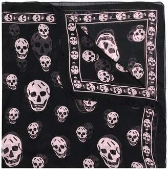 Alexander McQueen skull pattern scarf