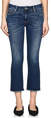 Care Label Women's Cigarette Crop Flared Jeans - Md. Blue