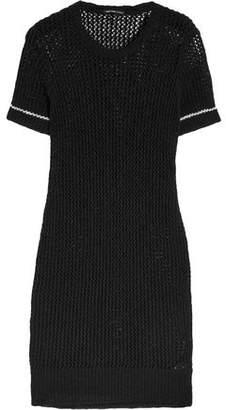 James Perse Open-Knit Cotton And Linen-Blend Dress