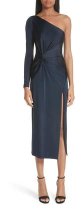 Cushnie et Ochs Denise Twist Detail One-Shoulder Dress