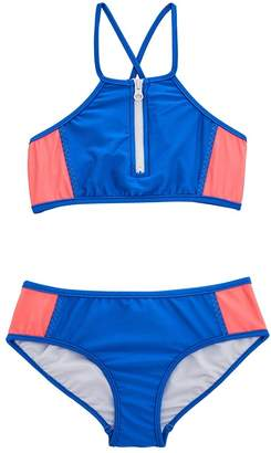 Seafolly Girls Colour Blocked Crop Set