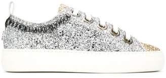 No.21 platform glitter sneakers
