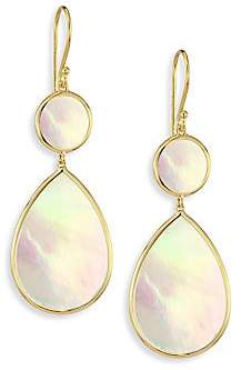 Ippolita Women's Rock Candyé Polished Mother-Of-Pearl& 18K Yellow Gold Snowman Drop Earrings