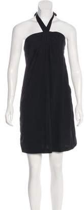 Theory Halter Mini Dress