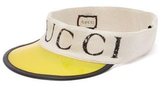 Gucci Logo Print Pvc Visor - Mens - Yellow Multi