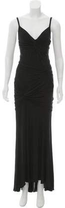 Donna Karan Gathered Evening Dress