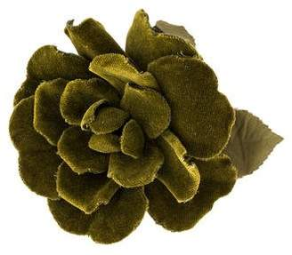 Chanel Corduroy Camellia Brooch