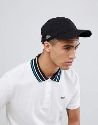 Lacoste Side Logo Baseball Cap In Black