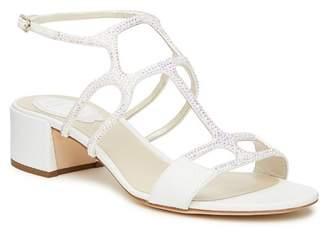 Rene Caovilla Crystal Embellished Mid Sandal