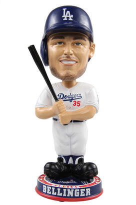 Forever Collectibles Cody Bellinger Los Angeles Dodgers Knucklehead Bobblehead
