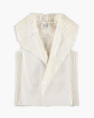Splendid Girl Faux Fur Vest with Rib