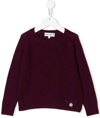 Simonetta cashmere bow detail sweater