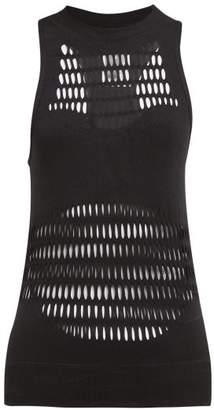 8ded374433160 adidas by Stella McCartney Warp Laser Cut Performance Tank Top - Womens -  Black