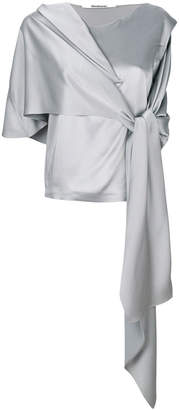 Chalayan draped metallic top