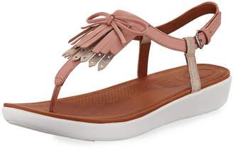 FitFlop Tia Fringe Platform Sandals, Pink