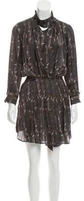 Isabel Marant Abstract Print Wrap Dress Brown Abstract Print Wrap Dress