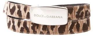 Dolce & Gabbana Canvas Waist Belt