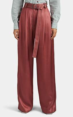 Sies Marjan Women's Blanche Satin-Faced Twill Trousers - Pink