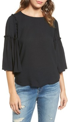 Women's Hinge Ruffle Blouse $79 thestylecure.com