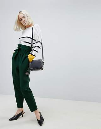 Asos DESIGN Tailored Super High Waist Balloon Tapered PANTS With Self Belt