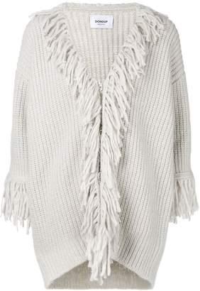 Dondup fringe embellished cardi-coat