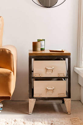 Small Industrial Storage Side Table