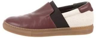Balenciaga Leather Slip-On Sneakers
