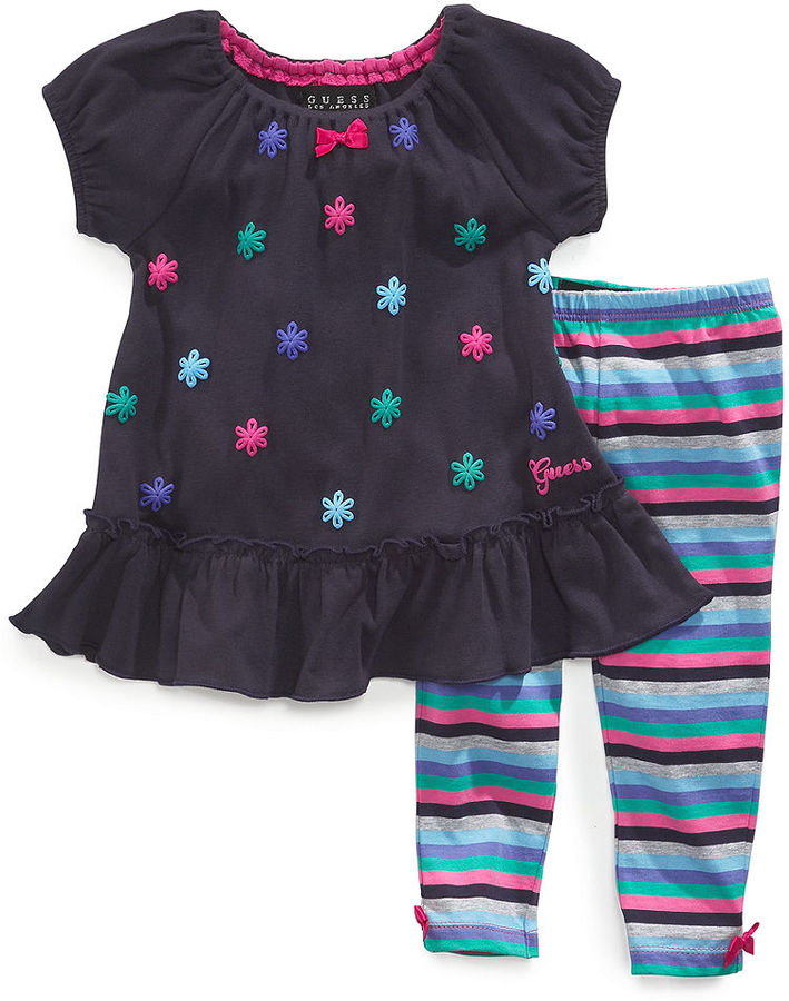GUESS Baby Set, Baby Girls 2-Piece Dress and Leggings