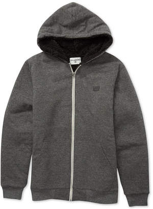 Billabong Big Boys Zip-Front All Day Sherpa Hoodie