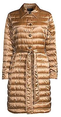 Lafayette 148 New York Women's Delroy Quilted Tech Satin Coat