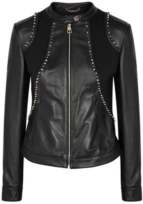Versace Black Studded Leather Jacket