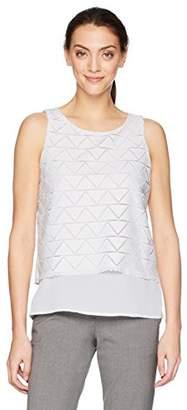 Calvin Klein Women's Sleeveless Popover Top with Zig Zag Pattern