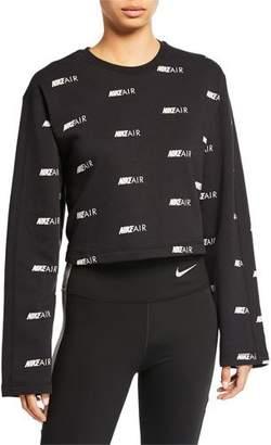b3b3a1cf Nike Air Printed Cropped Pullover