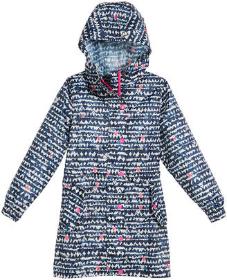 Joules Heart-Print Hooded Pack-Away Coat, Size 3-10