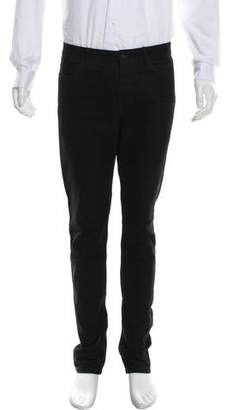 Alexander Wang Leather Trimmed Skinny Jeans