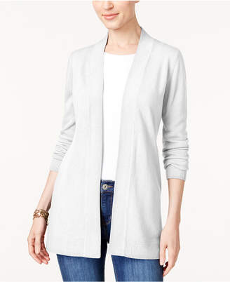 Karen Scott Open-Front Cardigan