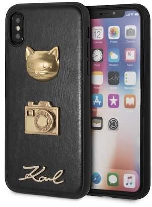 Karl Lagerfeld Embossed Hard Case iPhone Case