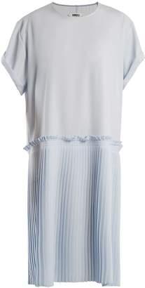 MM6 MAISON MARGIELA Knife-pleated crepe-cady dress