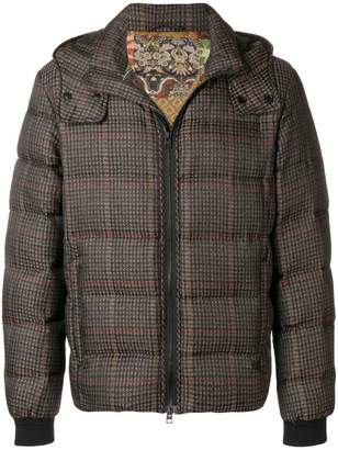 Etro check padded jacket