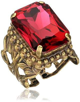 Sorrelli Womens Radiant Sunrise Emerald Cut Band Ring